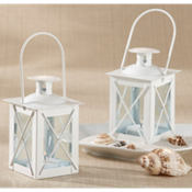 White Mini-Lantern Wedding Favor