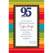 A Year to Celebrate 95 Custom Invitation