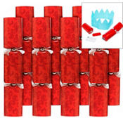 Large Red Christmas Crackers 8ct