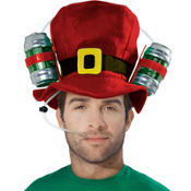 Christmas Drinking Top Hat 10 1/4in