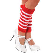 Adult Candy Stripe Leg Warmers