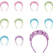 Colorful Headband Multipack 4ct