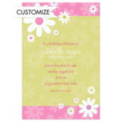 Daisy Stripe Custom Invitation