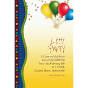 Punchy Birthday Custom Invitation