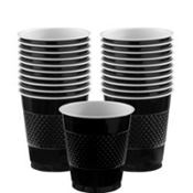 Black Plastic Cups 20ct