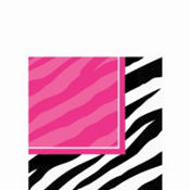 Zebra Party Beverage Napkins 16ct