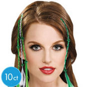 Bobby Pin St. Patricks Day Hair Extensions 12 1/2in 10ct