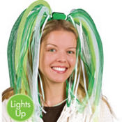 Green & White Noodle Bopper Headband 18in
