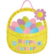 Glitter Easter Basket Sign 12in