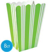 Kiwi Striped Popcorn Boxes 8ct