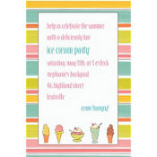 Sweet Soiree Ice Cream Party Custom Invitation