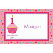 Sweet Little Cupcake Girl Custom Thank You Note