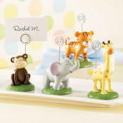 Jungle Animal Place Card Holders 4pc
