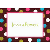 Chocolate & Dots Polka Dot Custom Thank You Note