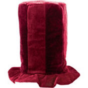 Tall Burgundy Top Hat