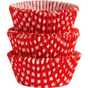 Standard Red Gingham Baking Cups 75ct