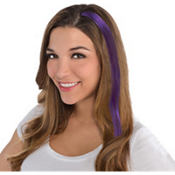 Purple Hair Extensions 15in