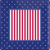 American Classic Patriotic Dinner Plates 8ct