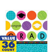 Colorful Commencement Lunch Napkins 36ct