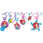 Little Mermaid Swirl Decorations 12ct