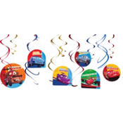 Cars 2 Swirl Decorations 12ct