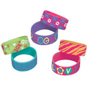 Neon Groovy Wristbands 6ct