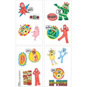 Yo Gabba Gabba! Tattoos 16ct