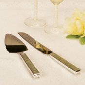Vintage Glamour Wedding Cake Server Set