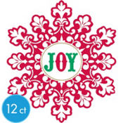 Holiday Joy Cutouts 8in 12ct