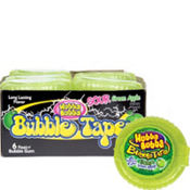 Hubba Bubba Sour Green Apple Bubble Tape Dispensers 12ct