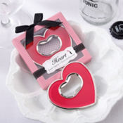 Pink Heart Bottle Opener Bridal Shower Favor