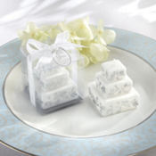 Silver Cake Candle Wedding Favor