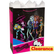 Jumbo Glitter Monster High Gift Bag 17in