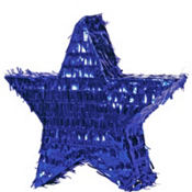 Blue Foil Star Pinata 18in