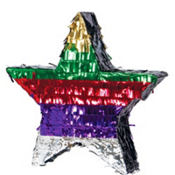 Multicolor Foil Star Pinata 18in
