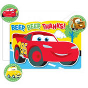 Cars 1st Birthday Thank You Notes 8ct