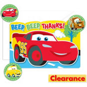 1st Birthday Cars Thank You Notes 8ct