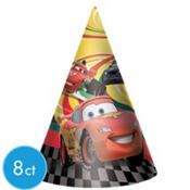 Cars 2 Party Hats 8ct