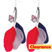 New Jersey Nets Feather Earrings