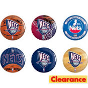 New Jersey Nets Buttons 6ct
