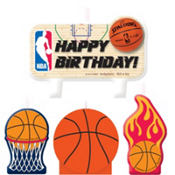 Spalding Basketball Birthday Candles 4ct