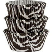 Zebra Print Baking Cups 75ct