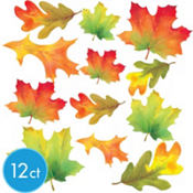 Assorted Fall Leaves Cutouts 12ct