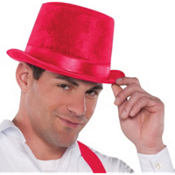 Velour Red Top Hat