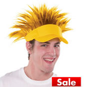 Yellow Spikey Hair Visor