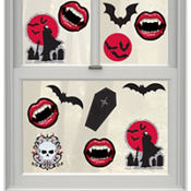 Vinyl Vampire Window Decorations 12pc