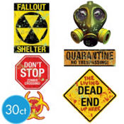 Doomsday Warning Signs Cutouts Value Pack 30pc