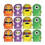 Boo Crew Monster Finger Puppets 12ct