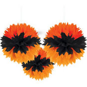 Halloween Fluffy Decorations 3ct