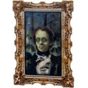 Girl Zombie Lenticular Portrait 12in x 17in